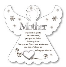 Mother an Angel wooden plaque