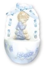 Porcelain Praying Boy Holy Water Font