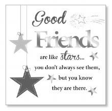 Good Friends Block Art Plaque