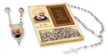 St Pio Gift Boxed Rosary Beads