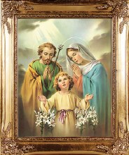 Holy Family Gold Framed Print (30 x 25cm)