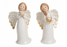 White and Gold Porcelain Christmas Angel