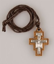 St Francis Cross on 71 cm Cord