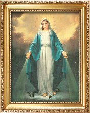 83279 Miraculous Gold framed Picture  25 x 20 cm