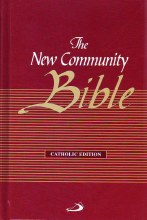 Christian Community Bible with Index, Red Hardback