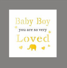 Baby Boy Light Up Your World Plaque