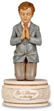 First Holy Communion Praying Boy