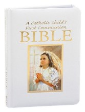 Girl Communion Bible