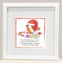 CRF003 Christmas Cheer Robin Frame