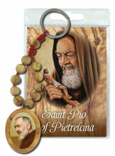 St Pio Olive Wood Single Decade