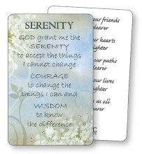 Serenity prayercard