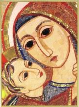 Madonna and Child Mosiac Icon