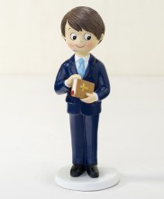 Cake Topper Communion boy and Bible 17cm