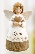Green Friend Angel with red Heart 10cm