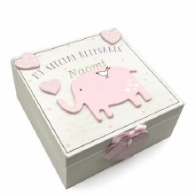 Pink Petit Cheri Elephant Keepsake Box