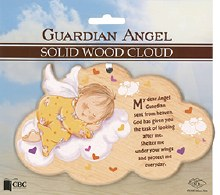 Guradian Angel Solid Wood Plaque
