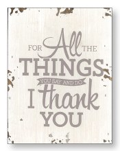 Thank you Wood Plaque