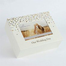 Amore Little Hearts Keepsake Box with Photo Frame