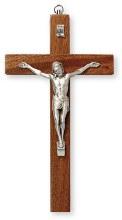 Mahogany Wood Crucifix (25cm)