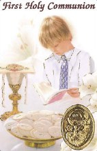 Boy First Holy Communion Prayercard