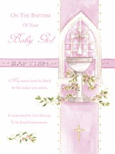 V106006 Baptism Girl Card