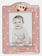 Pink Lamb Bless This Baby Frame
