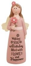 39531 Birthday Message Angel 10cm