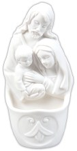 White Holy Family Holy Water Font