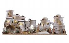 Large Oriental Nativity Village scene (100 x 50cm)