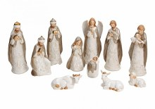 Porcelain Nativity Set 11 Figures (23cm)