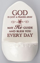 Porcelain Holy Water Font