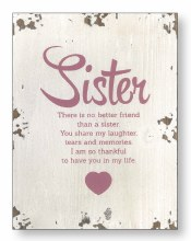 Sister Wood Plaque