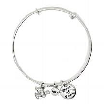 Silver Dove of Peace Bangle Bracelet