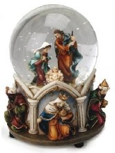 Holy Family With Animals  Water Globe