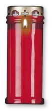 Red  memorial Candle 18cm