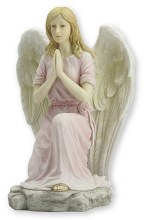 Pink Praying Angel Veronese Statue (20cm)