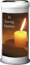 In Loving Memory Pillar Candle