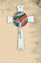 Handcrafted Italian Rosone Crucifix (34cm)
