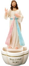 Florentine Resin Divine Mercy Holy Water Font