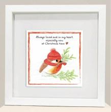 CRF004 In My Heart Christmas Robin Frame