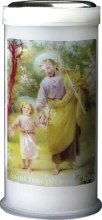 St Joseph and Child Pillar Candle