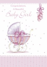 V108009 Baby Girl Card