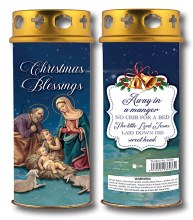 86986 Christmas Blessings Windproof Candle 17cm
