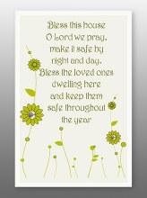 Home Blessing Glass Plaque 18 x 13 cm