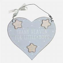 Petit Cheri For Little Boys Heart Plaque