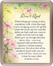 Don't Quit Fridge Magnet