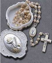 Olive Wood First Holy Communion Rosary Beads
