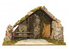 Nativity Shelter with wooden rails