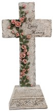 48407 In Loving Memory Grave Cross 34cm