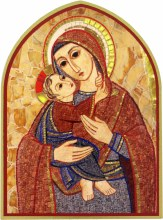 Madonna and Child Mosaic Icon